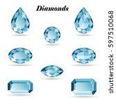 set of eight different cut... | Shutterstock .eps vector #597510068