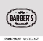 vintage logo design  retro... | Shutterstock .eps vector #597513569
