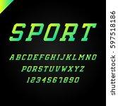 sport font. vector alphabet...   Shutterstock .eps vector #597518186