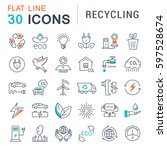 set  line icons in flat design... | Shutterstock . vector #597528674