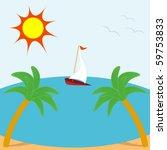 vector illustration of summer... | Shutterstock .eps vector #59753833