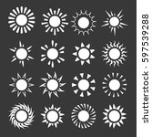 suns weather vector icons set