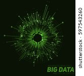 vector abstract round big data... | Shutterstock .eps vector #597543260