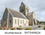 Small photo of Eglise Sainte-mere or Saint-Merie church in normandie, France.