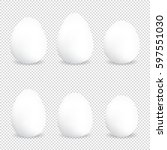 white eggs various forms on a... | Shutterstock .eps vector #597551030