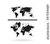 world maps icon. | Shutterstock . vector #597554489