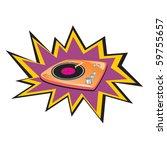 vector vinyl music   Shutterstock .eps vector #59755657
