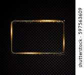 vector rectangle frame. shining ... | Shutterstock .eps vector #597563609
