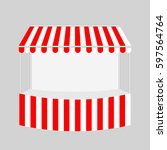 template shopping stand with... | Shutterstock .eps vector #597564764