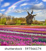 spring is a good sunny weather... | Shutterstock . vector #597566174