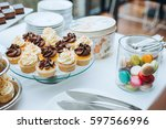 wedding candy bar decoration... | Shutterstock . vector #597566996