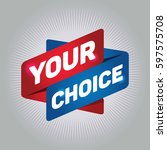 your choice arrow tag sign