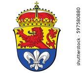 coat of arms of darmstadt ...   Shutterstock .eps vector #597580880