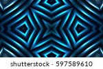 decorative bright blue lights | Shutterstock . vector #597589610