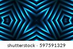 decorative bright blue lights | Shutterstock . vector #597591329