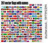 flags of the world  round icons ... | Shutterstock .eps vector #597592394