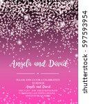 invitation for wedding ... | Shutterstock .eps vector #597593954