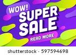 super sale banner design.vector ... | Shutterstock .eps vector #597594698