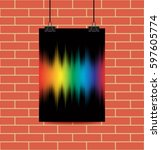 rainbow equalizer on black... | Shutterstock .eps vector #597605774