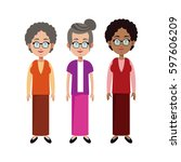 group grandmother family member | Shutterstock .eps vector #597606209