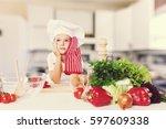 kid. | Shutterstock . vector #597609338