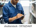 car service  repair ... | Shutterstock . vector #597625469