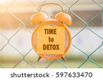 Time To Detox Word Written On...