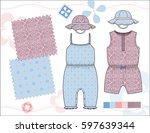 vector fashion illustration of...   Shutterstock .eps vector #597639344