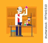 a professor is searching for... | Shutterstock .eps vector #597641510