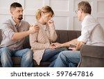 nice professional psychologist... | Shutterstock . vector #597647816