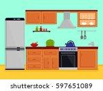 kitchen interior with kitchen...