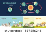 earth's seasons cycle vector... | Shutterstock .eps vector #597656246