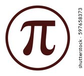 pi vector icon. large brown... | Shutterstock .eps vector #597658373