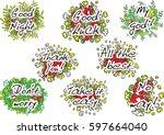 letter design set | Shutterstock .eps vector #597664040