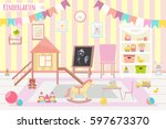 kindergarten vector...   Shutterstock .eps vector #597673370