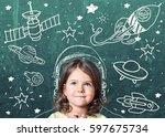 studying. | Shutterstock . vector #597675734
