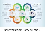 circle graphic vector elements... | Shutterstock .eps vector #597682550