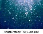 abstract blur bokeh water... | Shutterstock . vector #597686180