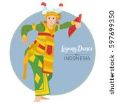 vector stock of legong dance ... | Shutterstock .eps vector #597699350