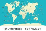 world map highly detailed... | Shutterstock .eps vector #597702194