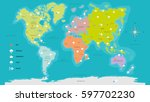 world map weather highly... | Shutterstock .eps vector #597702230