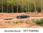 drving soil out from the place... | Shutterstock . vector #597708980