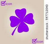 leaf clover sign icon. saint...