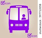 bus icon. schoolbus symbol.... | Shutterstock .eps vector #597712058