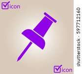 push pin icon. attach a note....