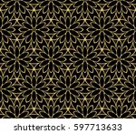 modern floral pattern of...   Shutterstock .eps vector #597713633