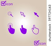 cursor pointer icons. click...