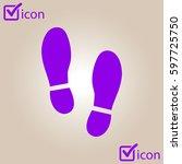 imprint soles shoes icon....