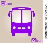 bus icon. schoolbus symbol.... | Shutterstock .eps vector #597725864