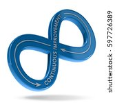 3d illustration of an infinite... | Shutterstock . vector #597726389